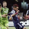 Diego Fagundez led the Revs attack against the Sounders.