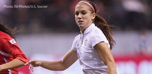 Alex Morgan scored seconds before the end of extra time to send the U.S. to the 2012 Olympic Gold Medal  with a 4-3 win over Canada.