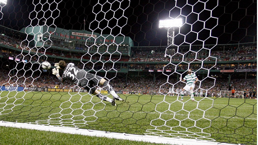 Celtic and Sporting played an exhibition match at Fenway Park on Jul. 21, 2010. (Photo: Chris Aduama/aduama.com)