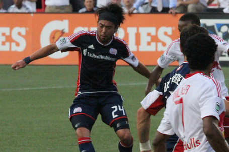 Revolution midfielder scored two goals and added an assist against the Whitecaps on May 12th. (Photo: Kari Heistad)