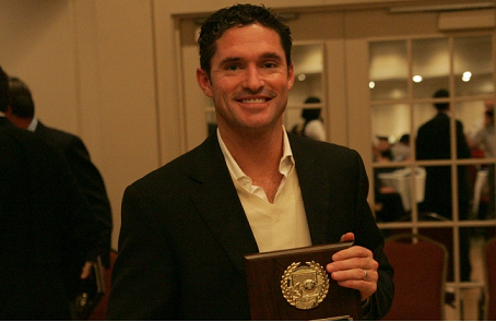 Current Revolution head coach Jay Heaps was one of eight inductees honored during last year's New England Soccer Hall of Fame induction ceremonies. (Photo: Tony Biscaia/Revsnet.com)