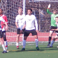 Armando Gomes and Kyle Teixeira each scored twice to lead East Providence Sports to a 4-3 semifinal win over Battery Park Gunners on Saturday.