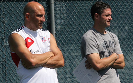Revolution head coach Jay Heaps will need veterans like Matt Reis (left) to help steer the club toward the postseason in 2013.(Photo: Kari Heistad/CapturedImages.biz)