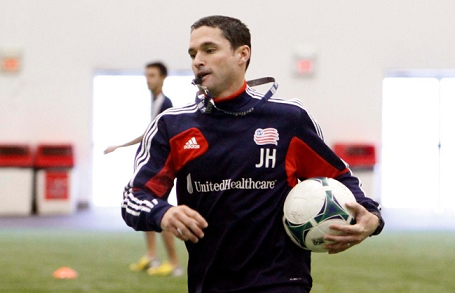 Revolution head coach Jay Heaps is looking to find out more about his club in its final three preseason games. (Photo: Chris Aduama/aduama.com)