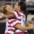 Hanson, Mass. native and Boston College alumna scores as U.S. get 4-1 win in Foxboro.