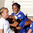 Sydney Leroux's brace helped the Breakers snap their winless streak at five in a 3-2 win over Sky Blue on Sunday.