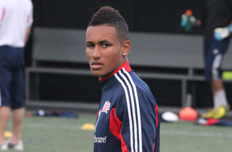 "Juan Agudelo, who signed a future contract with Stoke City last week, said that MLS wasn't ""cooperative"" in getting a potential deal done to stay in MLS. (Photo: Kari Heistad/capturedimages.biz)"