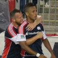 Agudelo, Rowe score in 2-0 Revolution victory over Chicago. (Photo: Kari Heistad/capturedimages.biz)