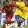 Era um jogo  que era esperado com muito entusiasmo, muitos portugueses e brasileiros vieram de muito longe para assistir a este classico do futebol mundial.