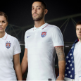 The United States Soccer Federation unveiled the new primary kits for its senior National Teams on Monday. The white jerseys, which feature a two button collar and thin, horizontal gray stripes,...