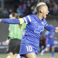 Breakers midfielder Lianne Sanderson picked up her second career Player of the Week honors on Tuesday.
