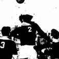 Ed Wojciechowski scored twice for Holy Cross, but St. Michaels responded to level the Times Cup semi-final on April 16, 1930.