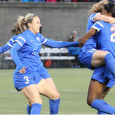 Jazmine Reeves collected a hat trick to put the skids on the Breakers' four-game losing streak on Wednesday.