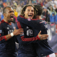 Revolution continue hot form, win seventh match in last eight games beating Crew 2-1.