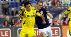 How do the Revs and Crew matchup against each other across the pitch?