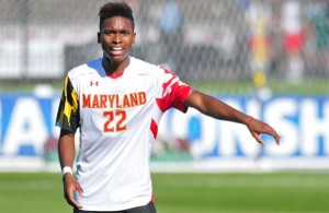Despite recently re-signing for Arizona United (USL-Pro), former FC Dallas Defender London Woodberry is in camp with the Revolution. Photo credit: University of Maryland Athletics